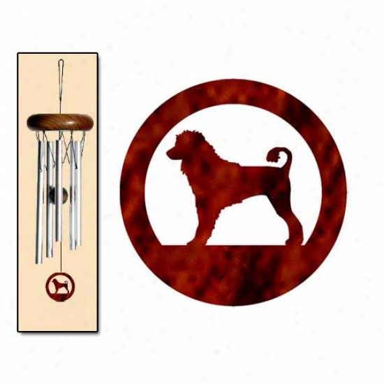 Portuguese Water Dog Wind Chimes X-small Silver