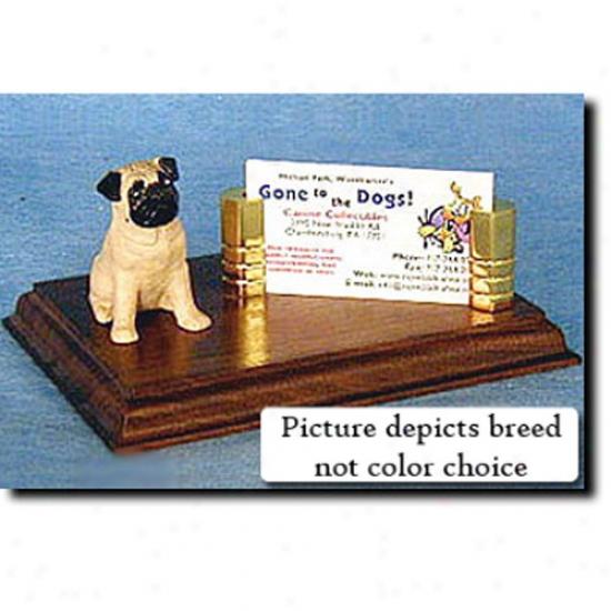 Pug (black) Business Card Hplder