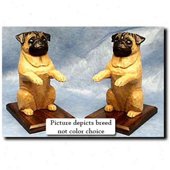 Pug Bookends Black