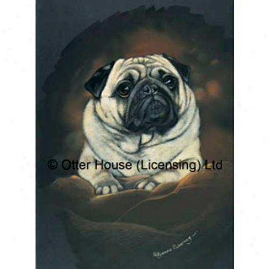 Pug Garden Flag By Pollyanna Pickering