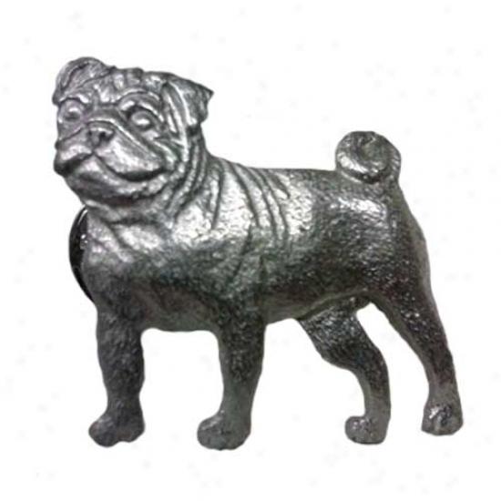 Pug Pewter Pin