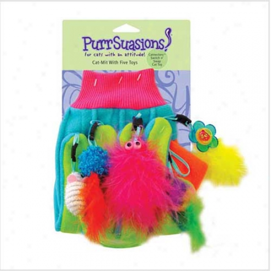 Purrsuasions Cat-mitt With 5 Toys