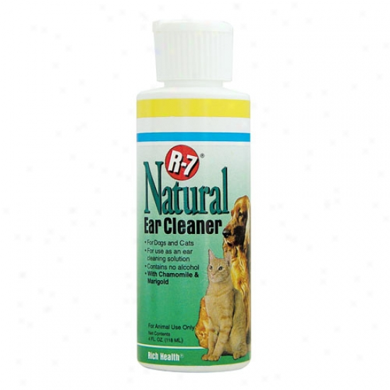 R7 Natural Ear Cleaner, 4oz Bottle