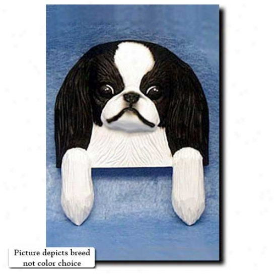 Red And White Japanese Chin Door Topper