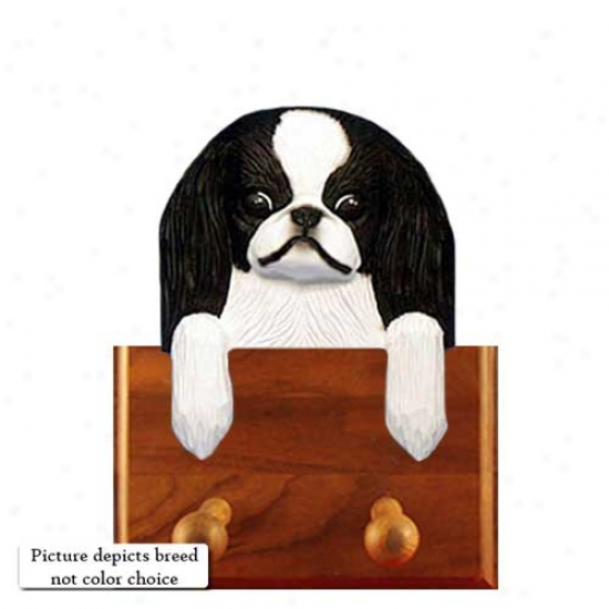 Red And Pure Japanese Chin Leash Holder