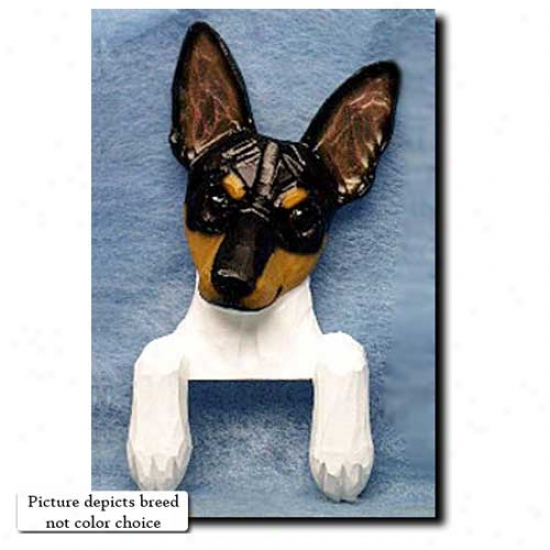 Red And White Toy Fox Terrier Door Topper