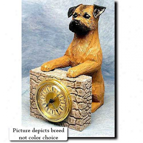 Red Border Terrier Mantle Clock