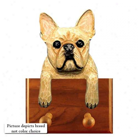 Red Brindle French Bulldog Leash Holder