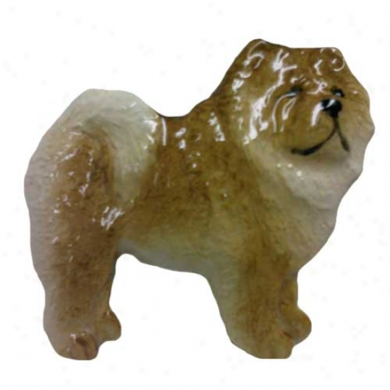 Red Chow Chow Hand Painted Pin