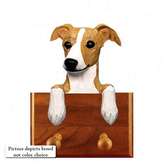 Red Italian Greyhound Leash Holder