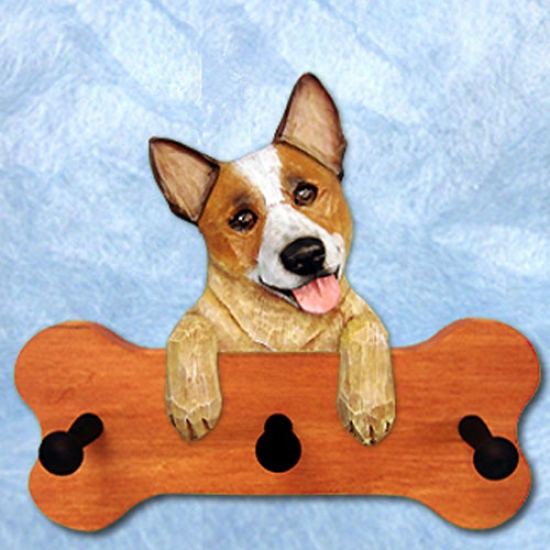 Rex Merle Australian Human trash Dog Bone Hang Up Maple Finish