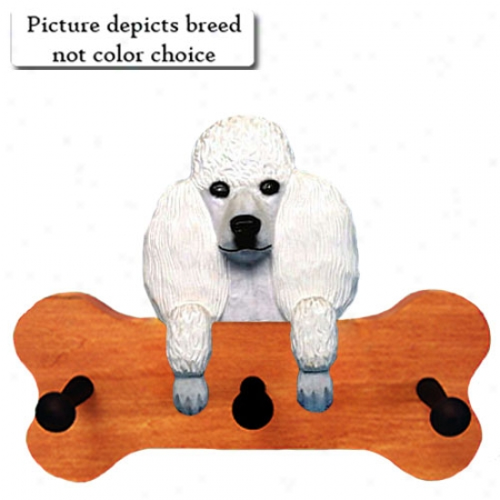 Red Poodle Bone Hang Up Maple Finish