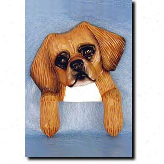 Red Tibean Spaniel Door Topper