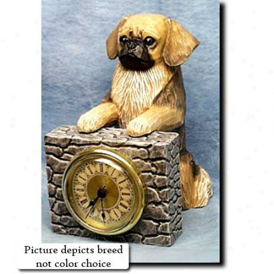 Red Tibtan Spaniel Mantle Clock