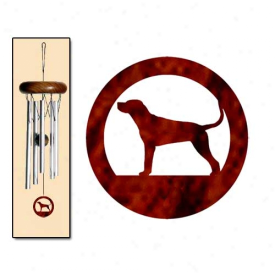 Redbone Coonhound Wind Chimes X-small Silver