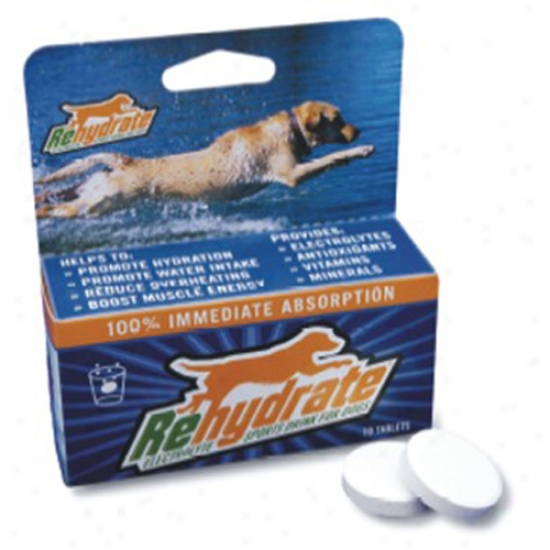 Rehydrate Electrolyte Sports Drink For Dogs (10 Quick-dissolving Tablets)
