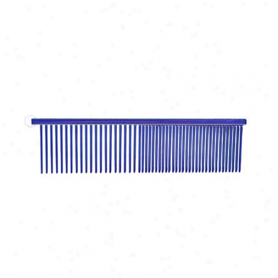 Resco Crystal Color Anti Static Combo Comb Md/coarse 1.5in Tooth Candy Blue 280