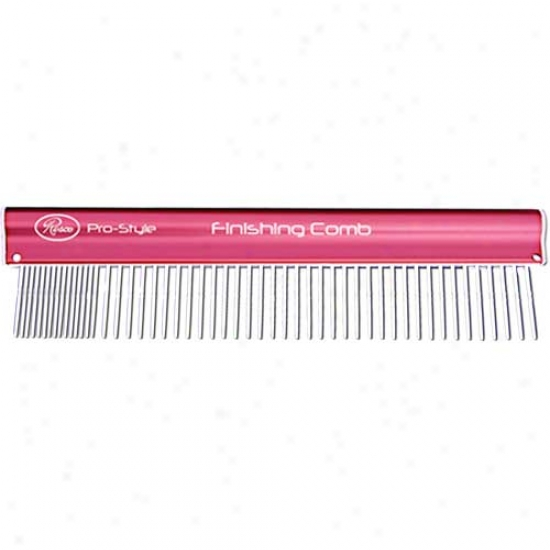 Resco Pro-style Finishing Comb Coarse-fine Pink