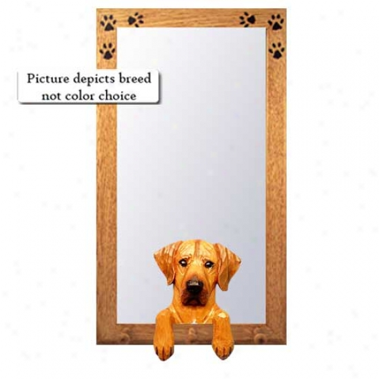 Rhodesian Ridgeback Hall Mirror With Basswood Pine Frame