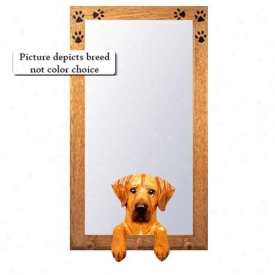 Rhodesian Ridgeback Hall Mirror With Basswood Walnut Frame