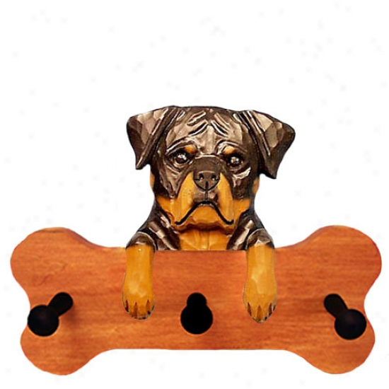Rottweiler Bone Hang Up Maple Finish