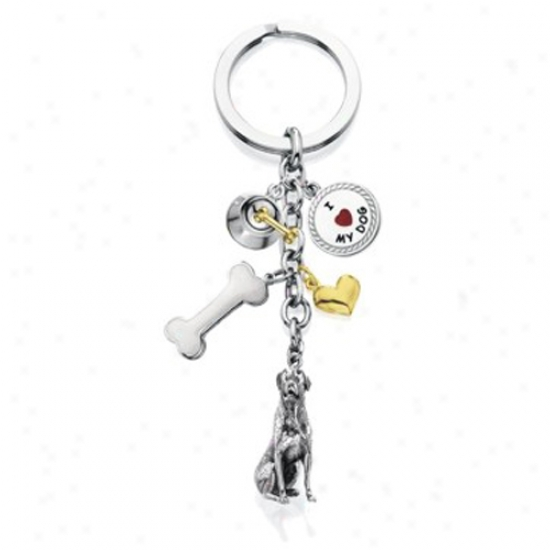 Rottweiler - I Love My Dog Keychain
