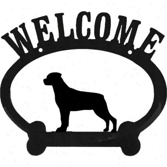 Rottweiler Metal Welcome Sign