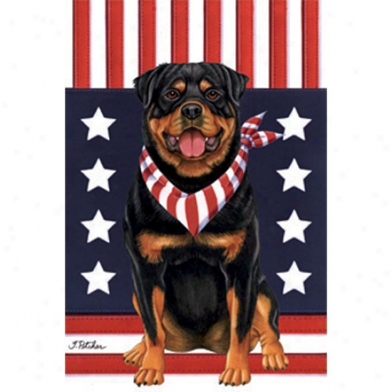 Rittweiler Patriotic Breed Flag