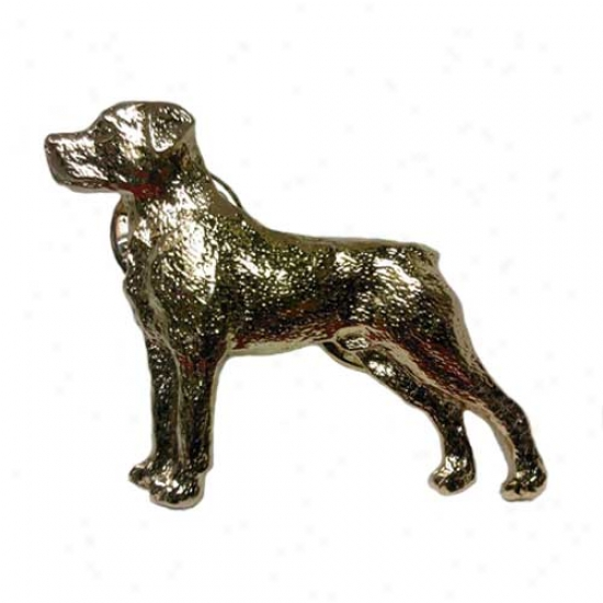 Rottweiler Pin 24k Gold Plated