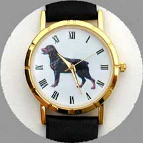 Rottweiler Watch - Largs Face, Black Leather