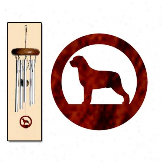 Rottweiler Wind Chimes X-small Silvrr
