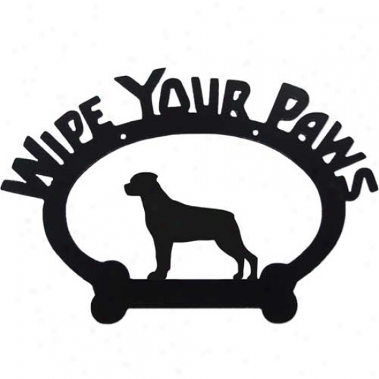 Rottweiler Wipe Your Paws Decorative Sign