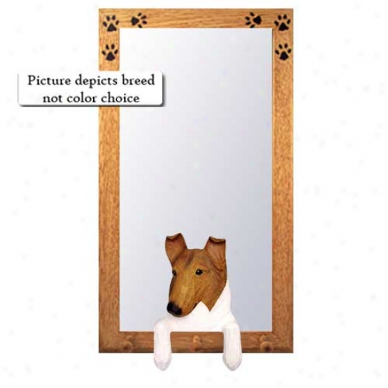 Sable Collie Hall Mirror With Basswood Walnut Frame Smooth