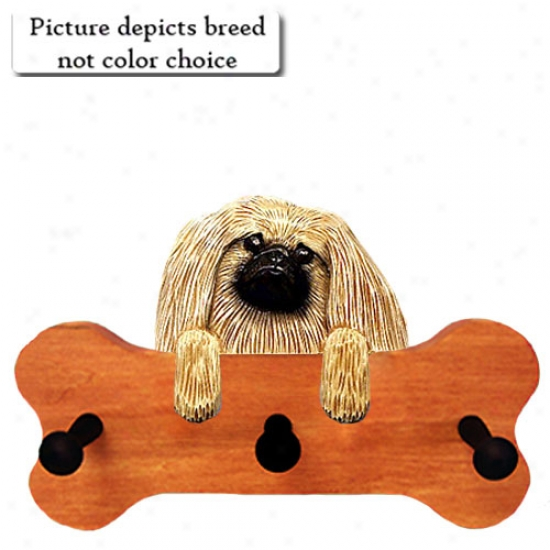 Sable Pekingese Bone Hang Up Maple Finish