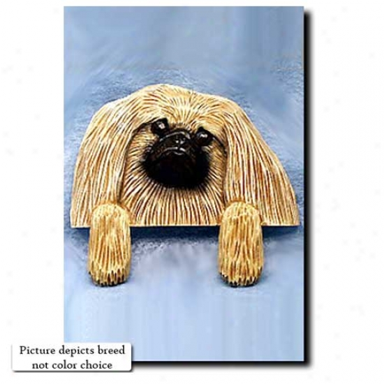 Sable Pekingese Door Topper
