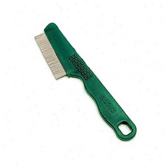 Safari Plastic Handle Flea Comb With Double Rows Of Teeth