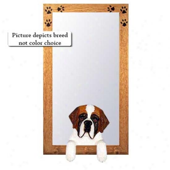Saint Bernard Hall Mirror With Basswood Walnut Frame