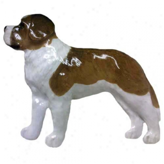 Saint Bernard Hand Painted Pin