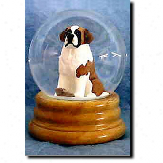 Saint Bernard Musical Snow Globe