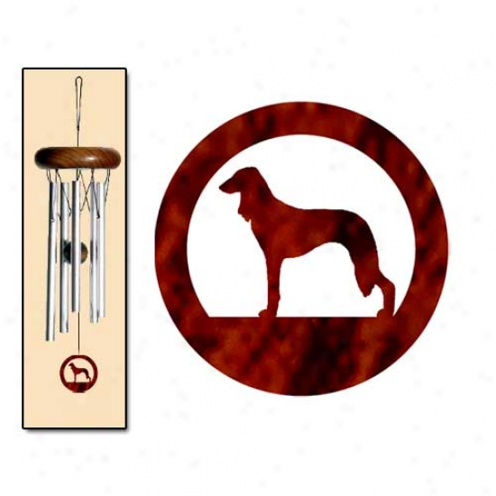 Saluki Wind Chimes X-small Silver