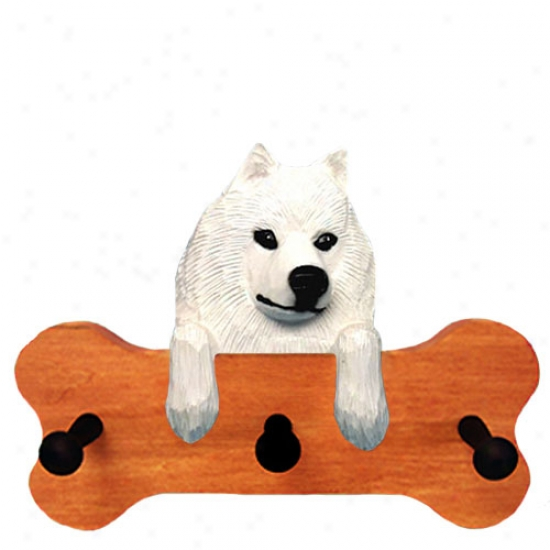 Samoyed Bone Hang Up Maple Finish