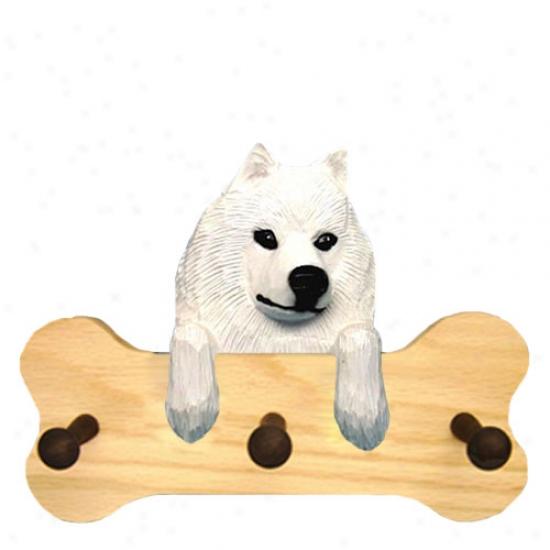 Samoyed Bone Hang Up Natral Oak