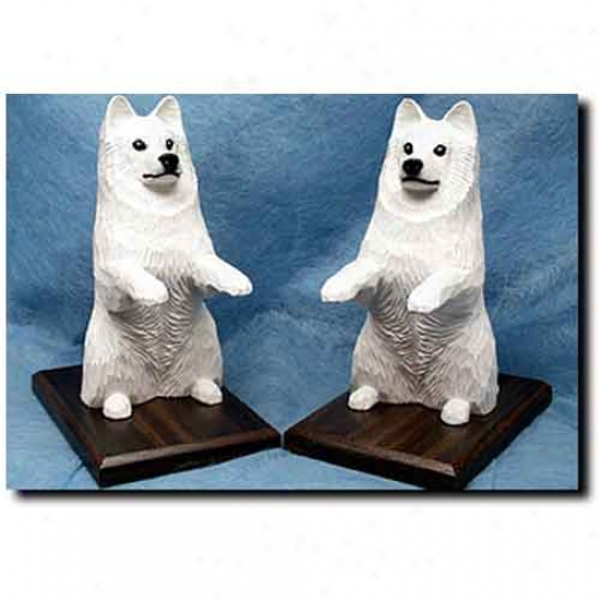 Samoyed Bookends