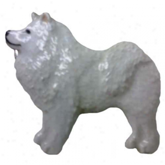 Samoyed Side  Paintsd Pin