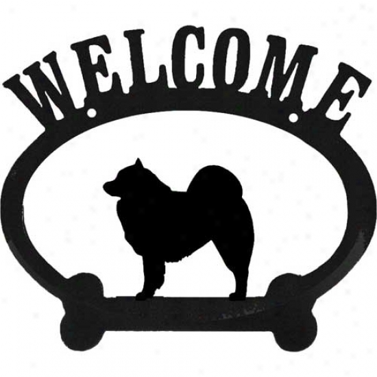 Samoyed Metal Welcome Sign