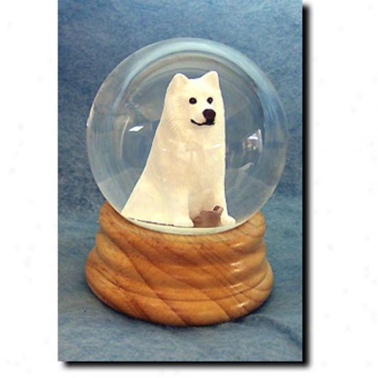 Samoyed Musical Snow Globe