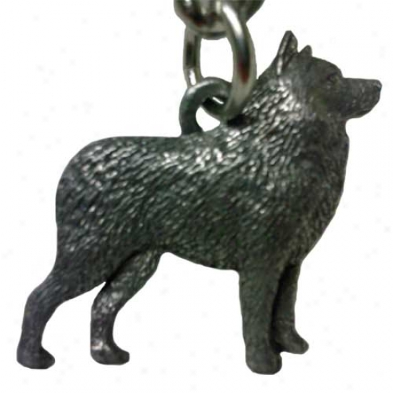 Schipperke George Harris Pewter Ksychain