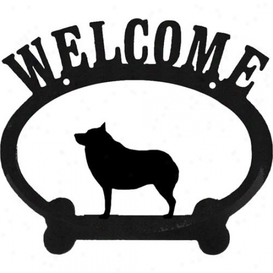 Schipperke Metal Welcome Sign