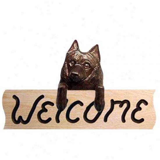 Schiplerke Welcome Sign Oak