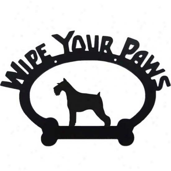 Schnauzer Wipe Your Paws Decorative Sign